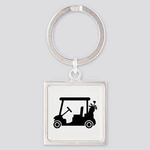 Golf car Square Keychain