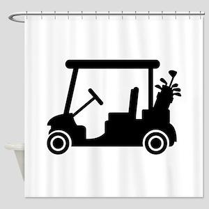 Golf car Shower Curtain