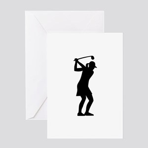 Golf woman Greeting Card