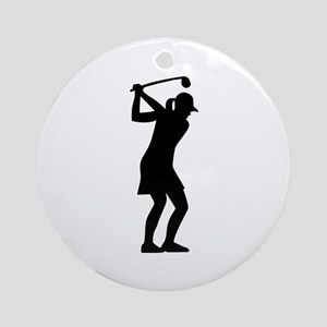 Golf woman Ornament (Round)