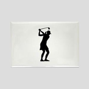Golf woman Rectangle Magnet