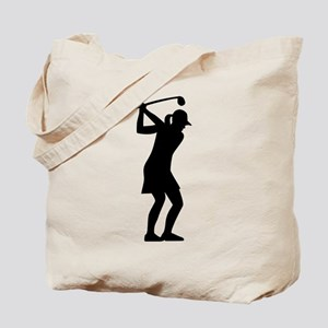 Golf woman Tote Bag