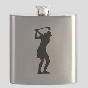 Golf woman Flask