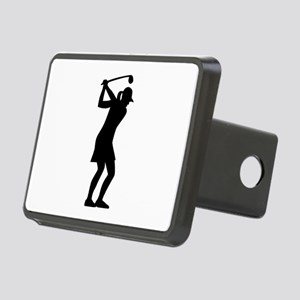 Golf woman Rectangular Hitch Cover