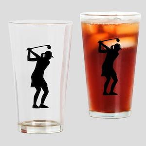Golf woman Drinking Glass