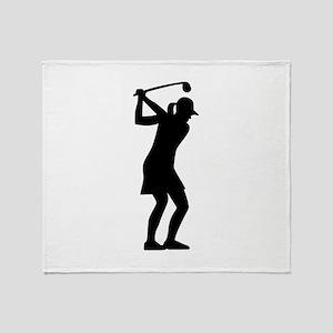 Golf woman Throw Blanket