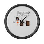 Company Policy Large Wall Clock