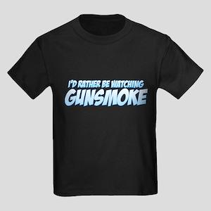 I'd Rather Be Watching Gunsmoke Kids Dark T-Shirt