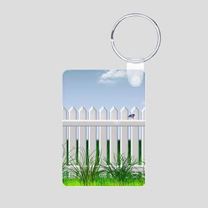The Garden Fence Aluminum Photo Keychain