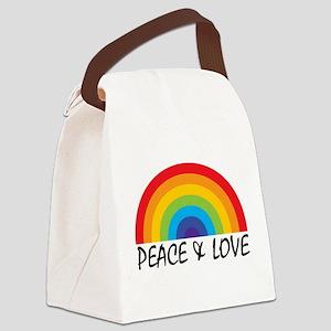 Peace & Love Canvas Lunch Bag