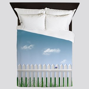 The Garden Fence Queen Duvet