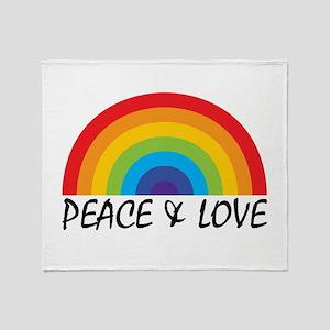 Peace & Love Throw Blanket