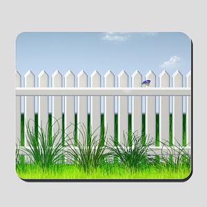 The Garden Fence Mousepad