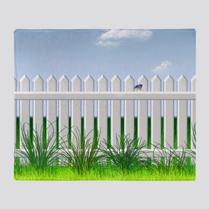 The Garden Fence Throw Blanket