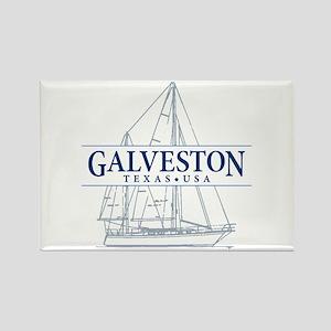 Galveston - Rectangle Magnet