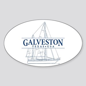 Galveston - Sticker (Oval)