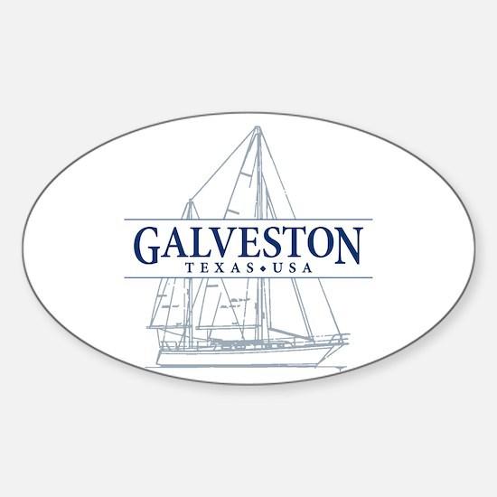 Galveston - Sticker (Oval)