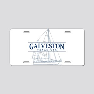 Galveston - Aluminum License Plate