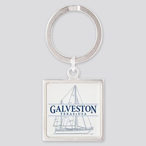 Galveston - Square Keychain