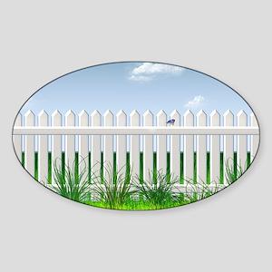 The Garden Fence Sticker (Oval)
