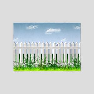 The Garden Fence 5'x7'Area Rug
