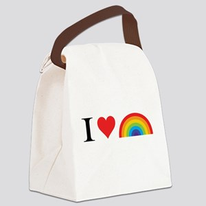 I Love Lgbt Canvas Lunch Bag
