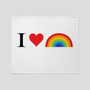 I Love Lgbt Throw Blanket