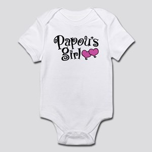 Papou's Girl Baby Light Bodysuit