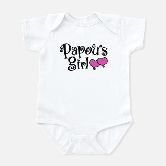 Papou's Girl Baby Light Bodysuit