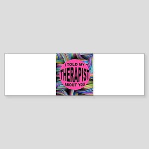 THERAPIST Bumper Sticker