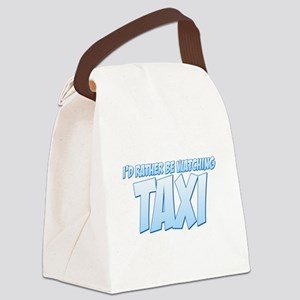 I'd Rather Be Watching Taxi Canvas Lunch Bag