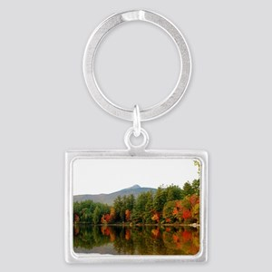 Reflections Of Fall Color Landscape Keychain