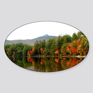Reflections Of Fall Color Sticker (Oval)