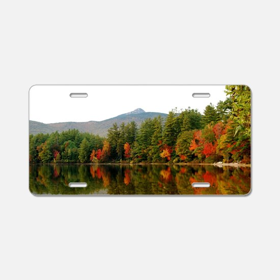 Reflections Of Fall Color Aluminum License Plate