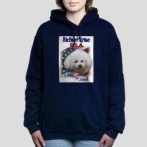 bichon usa Hooded Sweatshirt