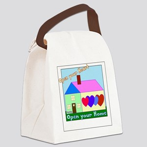 Open your Heart Canvas Lunch Bag