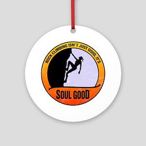 Rock Climber female - Soul Good Round Ornament