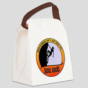 Rock Climber female - Soul Good Canvas Lunch Bag