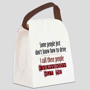Bad Drivers (Red) Canvas Lunch Bag