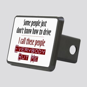 Bad Drivers (Red) Rectangular Hitch Cover