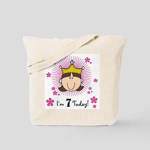 Princess 7th Birthday(brown) Tote Bag