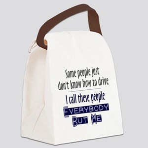Bad Drivers (Blue) Canvas Lunch Bag