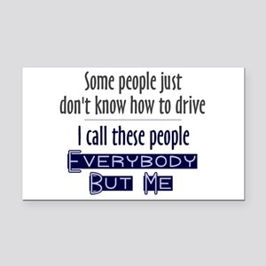 Bad Drivers (Blue) Rectangle Car Magnet