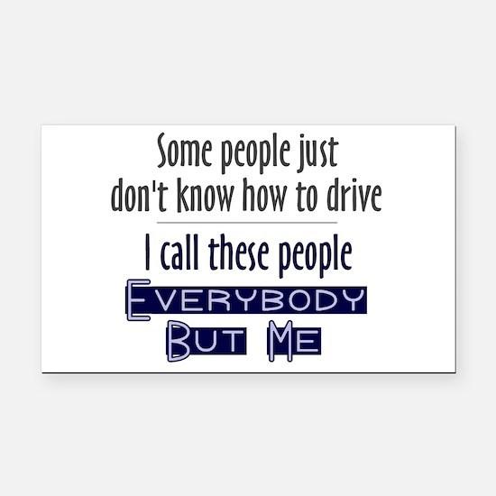 Bad Drivers (Blue) Rectangle Car Magnet