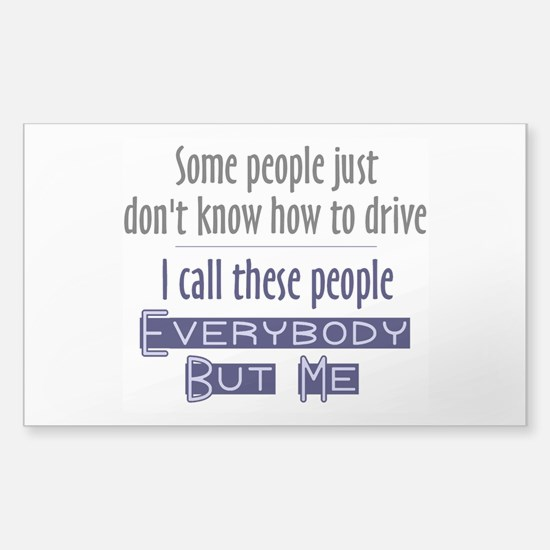 Bad Drivers (Blue) Sticker (Rectangle)
