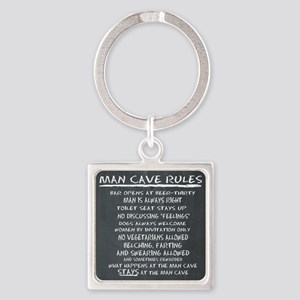 Man Cave Rules Keychains