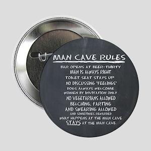 Man Cave Rules 2.25&Quot; Button