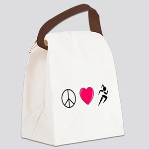 Peace Love Run Canvas Lunch Bag