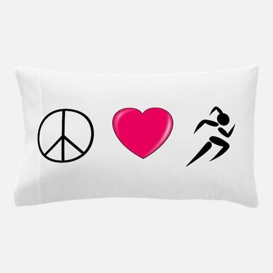 Peace Love Run Pillow Case