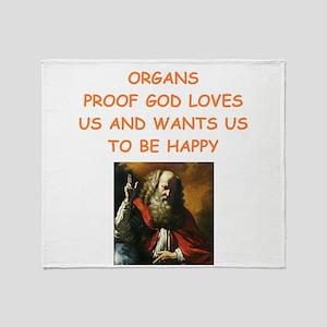 organ Throw Blanket